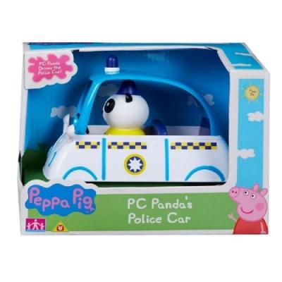 粉紅豬小妹 交通工具組系列-熊貓警長的警車  PEPPA PIG