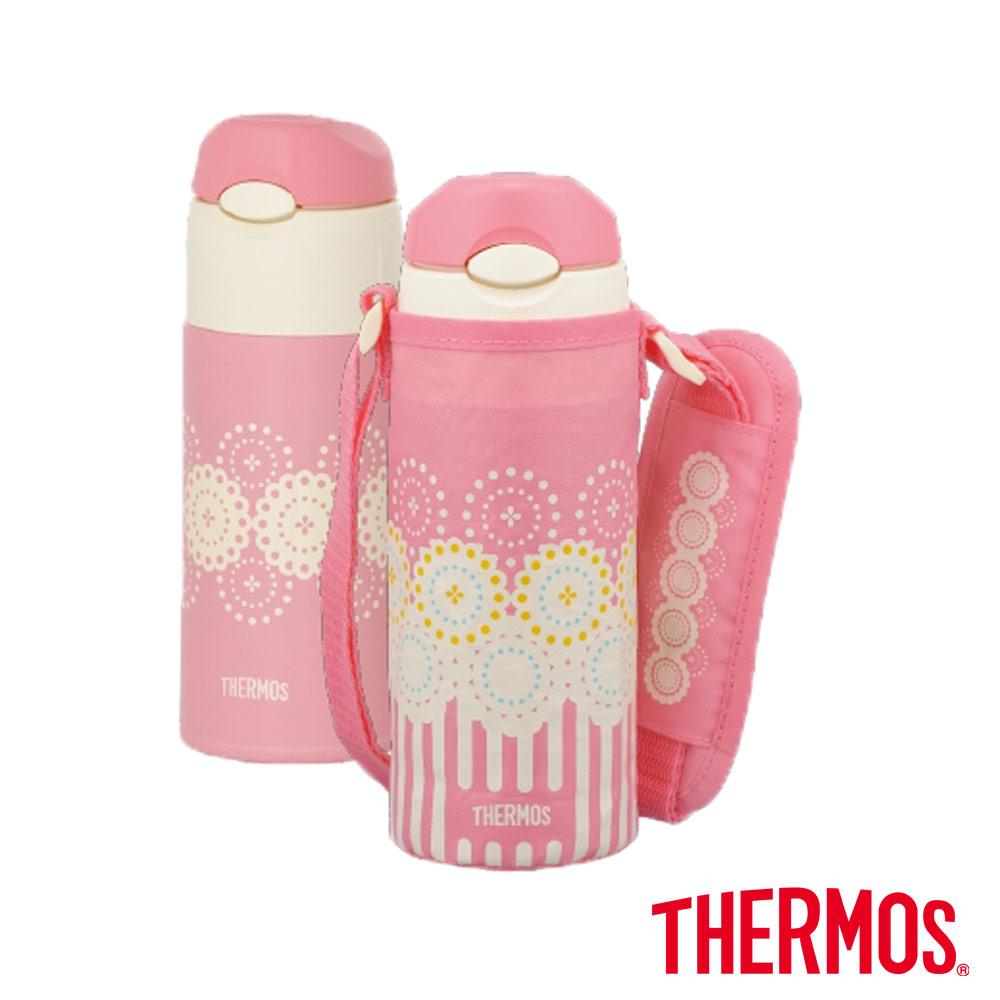 THERMOS膳魔師 兒童水壺 不鏽鋼真空保冷瓶0.4L(FHL-400F-CP) product image 1