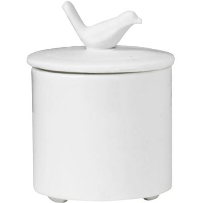 《RADER》手工白瓷飾品罐(燕鳥)
