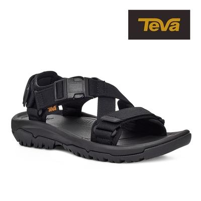 【TEVA】原廠貨 女 Hurricane Verge 交叉織帶快扣運動涼鞋/雨鞋/水鞋(黑色-TV1121535BLK)