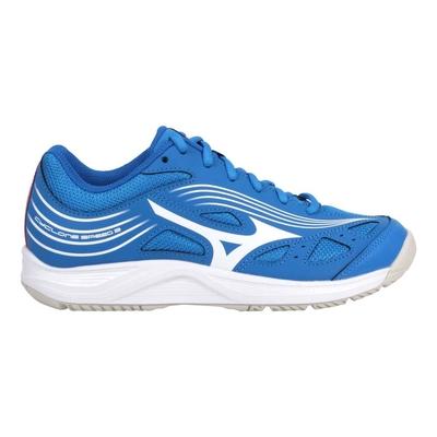 MIZUNO CYCLONE SPEED 3 男女排球鞋-運動 訓練 美津濃 V1GA218024 寶藍白