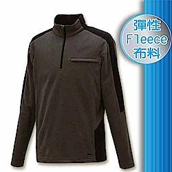 FIT 男款 雙刷雙搖保暖長袖上衣_FW1106 鐵礦灰 W
