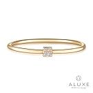 ALUXE 亞立詩 10K鑽石正方戒指