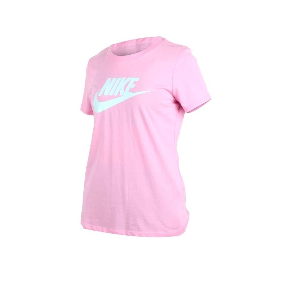 NIKE 女短袖T恤-短T 路跑 慢跑 粉紅水藍