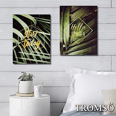 TROMSO 時尚無框畫-奢華金葉