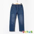 bossini男童-彈性牛仔褲01淡藍