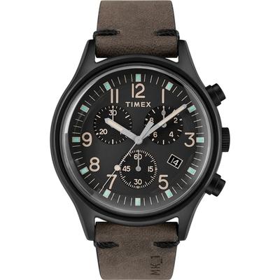 TIMEX 沙漠風暴計時皮帶腕錶-TW2R96500-42mm