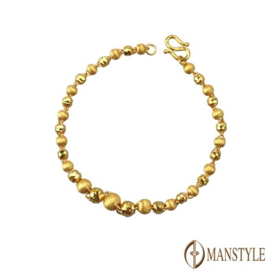 MANSTYLE 靠近 黃金手鍊 (約1.49錢)