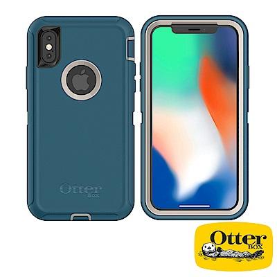 OtterBox iPhoneX防禦者系列保護殼-海洋藍