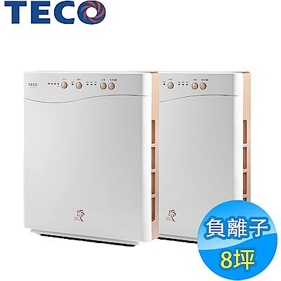 2入組!TECO東元 8坪負離子空氣清淨機 NN2001BD