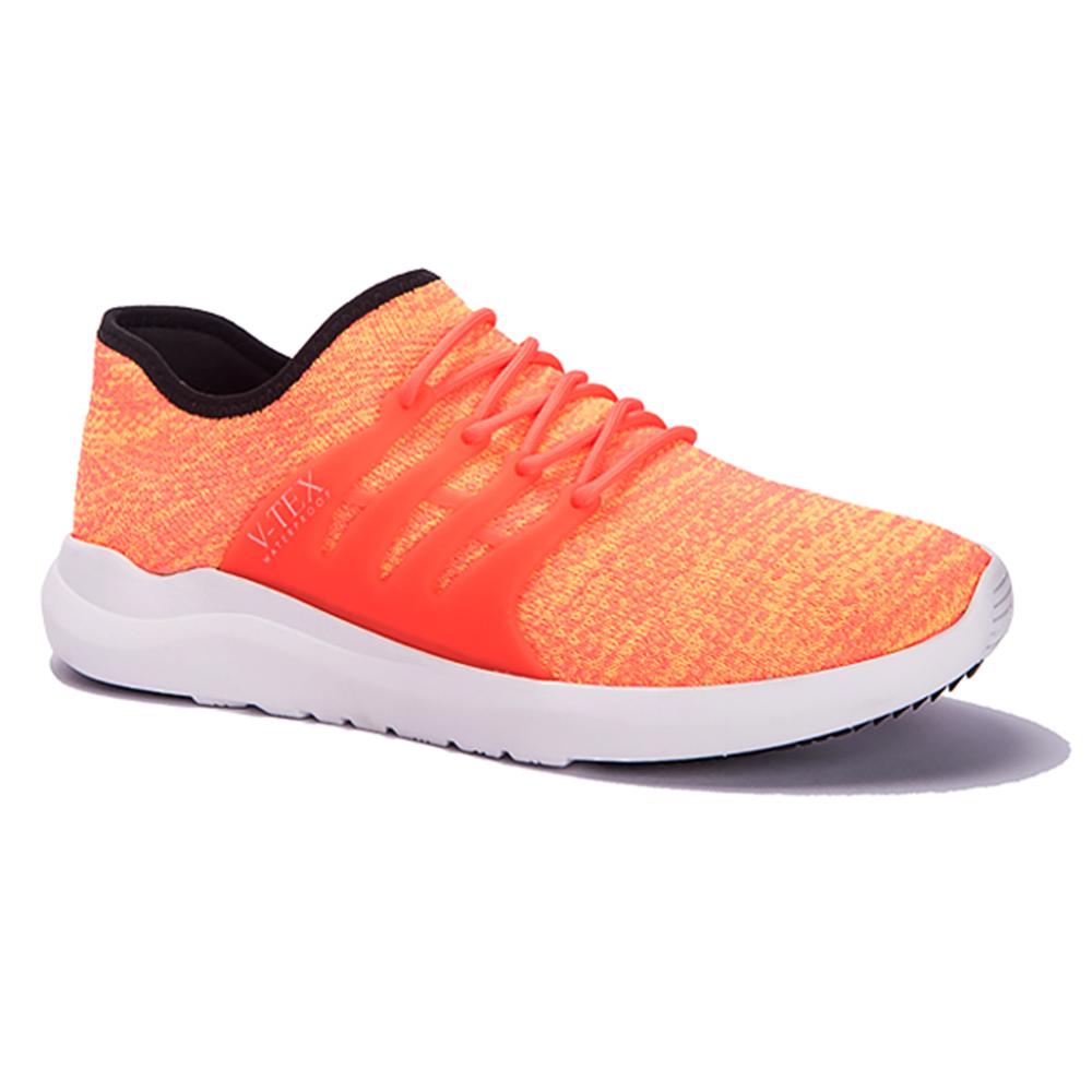 V-TEX 時尚針織耐水鞋/防水鞋 地表最強耐水透濕鞋-豔動橘(女)