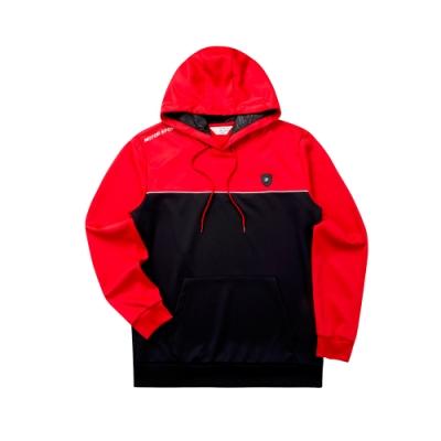 FILA 男長袖連帽T恤-紅色 1TET-5471-RD