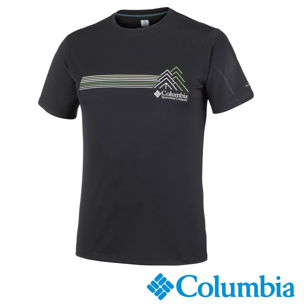 Columbia哥倫比亞 男-防曬30涼感快排短袖上衣深灰-UAE64630DY
