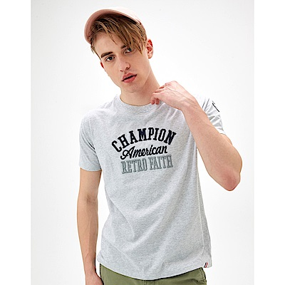 CACO-立體繡臂章短T-情侶款(兩色)-男【SAR070】