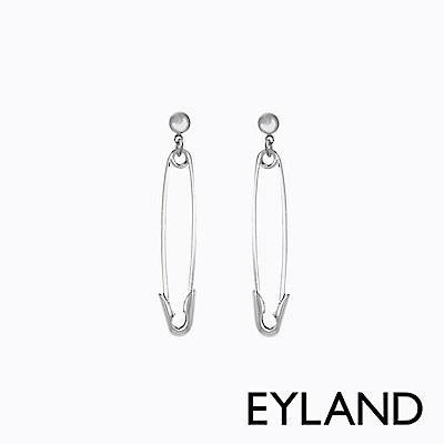 Eyland英國倫敦 AOKI 白金垂釣迴紋針個性耳環