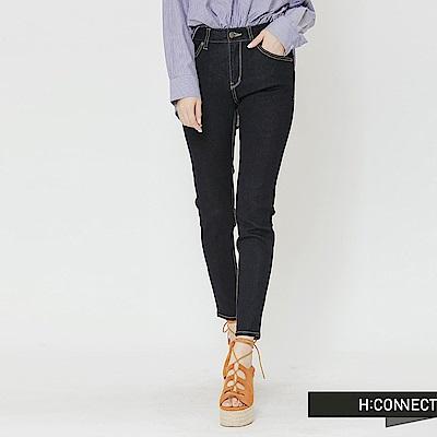 H:CONNECT 韓國品牌 女裝-簡約修身牛仔褲-深藍