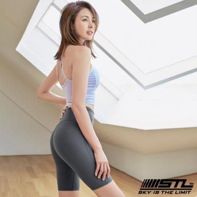 STL Leggings Free Line 5 韓國運動機能緊身壓力褲 自由曲線5分灰
