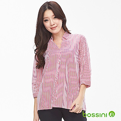bossini女裝-純棉7分袖罩衫01嫩粉