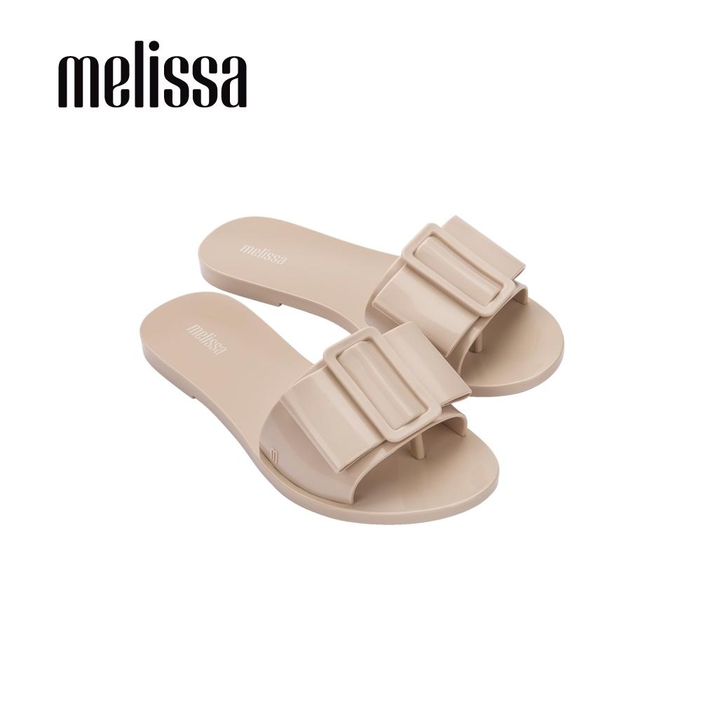 Melissa BABE扣環造型一字拖鞋-粉