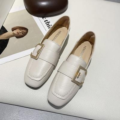 KEITH-WILL時尚鞋館 時尚首選百搭樂福鞋-米