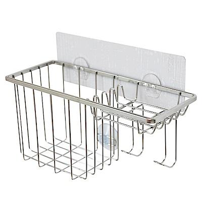 完美主義 洗碗精架/菜瓜布架/肥皂架/304不鏽鋼扁鐵/無痕貼(2入組)
