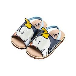 迪士尼童鞋 小飛象 立體造型寶寶涼鞋-藍