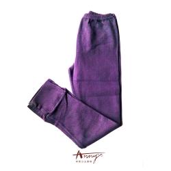 Annys高質舒適百搭針織紋布褲襪*0427紫