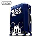 Disney 米奇奇幻之旅 28吋PC鏡面拉鍊箱-藍色