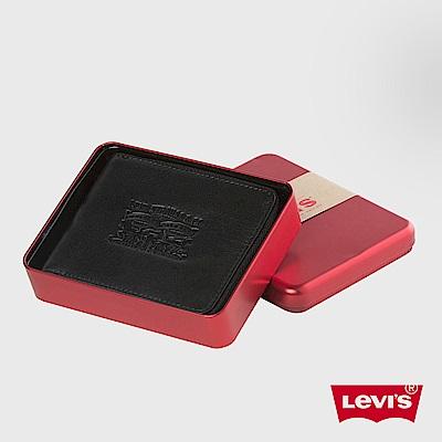 Levis 皮夾 男款 真皮 精美鐵盒