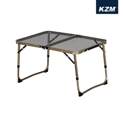 KAZMI 迷你鋼網折疊桌 (鋼網系列) 鈦金色 K8T3U011