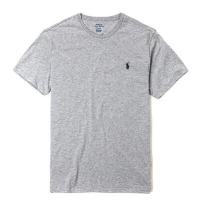 Polo Ralph Lauren 經典刺繡小馬圓領素面短袖T恤-淺灰色