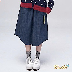 【DAILO】可愛腳單寧-裙子(藍色)