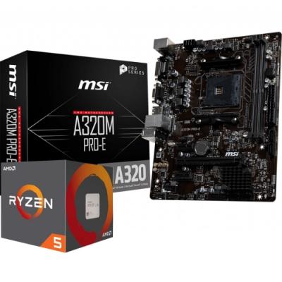 AMD Ryzen5 2600   MSI A320M 組合套餐