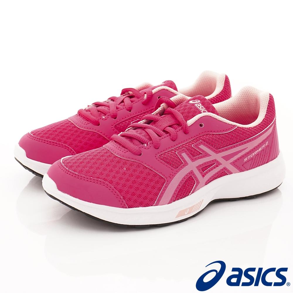 asics競速童鞋 STORMER 2  EI11N-700桃(中大童段)