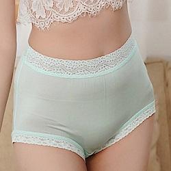 內褲 粉嫩色調100%蠶絲高腰三角內褲 (綠) Chlansilk 闕蘭絹