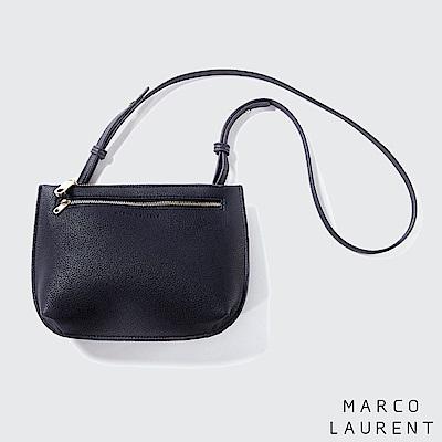 MARCO LAURENT Parallel平行拉鍊手拿肩背包-時尚黑
