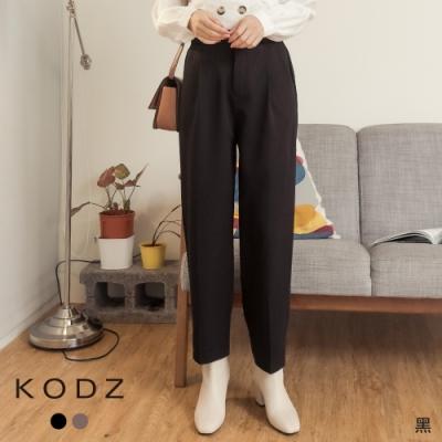 東京著衣-KODZ OL定番款經典修身剪裁打褶西裝長褲-M.L(共二色)