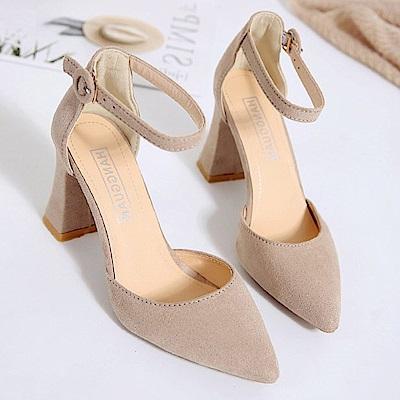 KEITH-WILL時尚鞋館 時尚潮流樂活舒適高跟鞋-米色