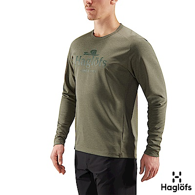 Haglofs 男 Curve 快乾 輕量 保暖長袖圓領衫 聖人綠色