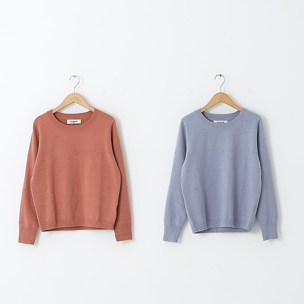 【CUMAR】羅紋線條造型上衣-針織衫(二色/魅力商品/版型適中)