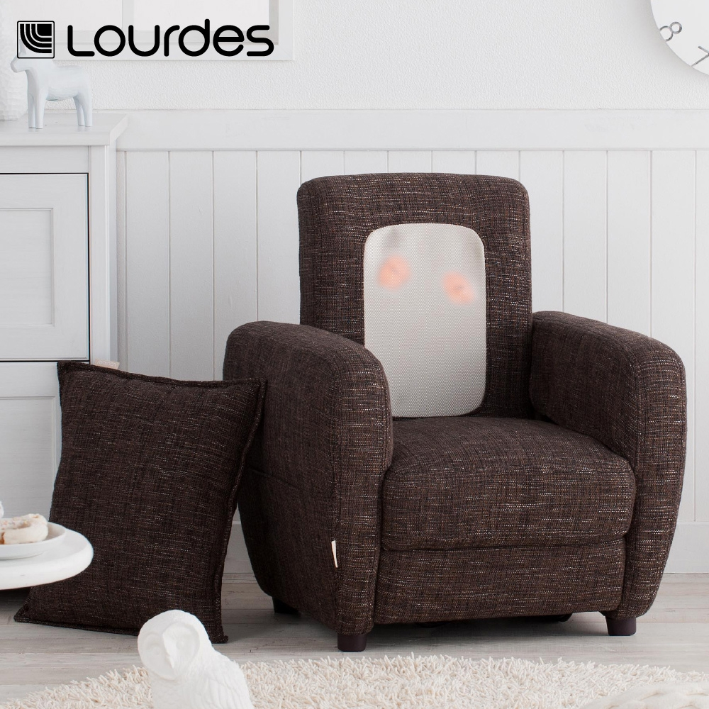Lourdes布套式日本小沙發按摩椅(棕)加贈紅款布套