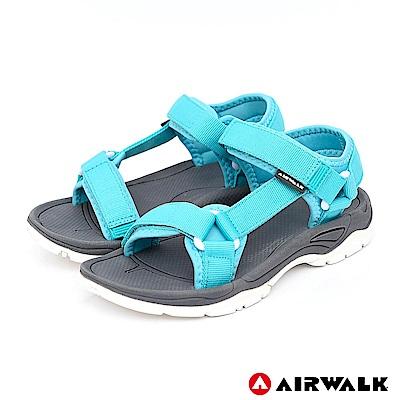 AIRWALK - Y字造型休閒涼鞋-女款-淺藍