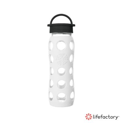 lifefactory 玻璃水瓶平口650ml-白色(CLA-650-WHB)