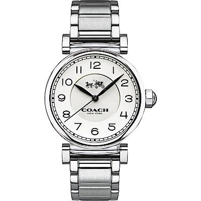 Coach Ladies 紐約懷舊時尚女錶-銀/ 32 mm ( 14502394 )