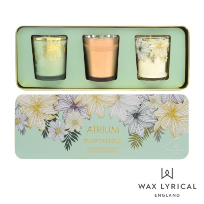 英國 Wax Lyrical 花叢3入香氛禮盒 Atrium Votive Candle Set  50g x 3