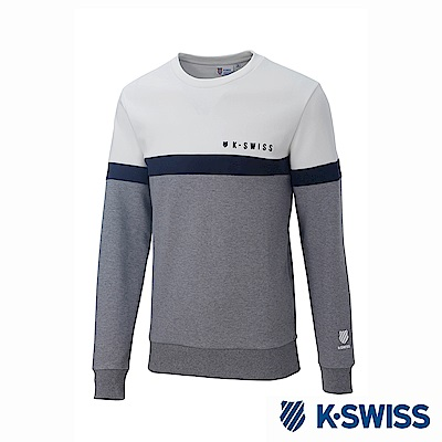 K-Swiss Round Sweat Shirts圓領長袖上衣-男-灰