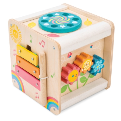 英國 Le Toy Van- Petilou系列啟蒙玩具系列-迷你六面啟蒙遊戲箱