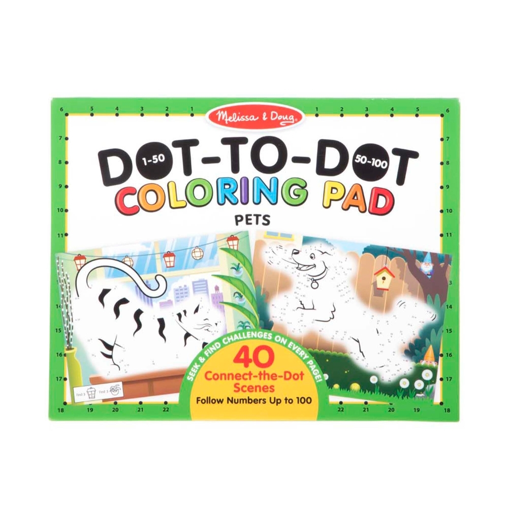 【Melissa & Doug 美國瑪莉莎】大型兒童繪本點點著色本 - 寵物