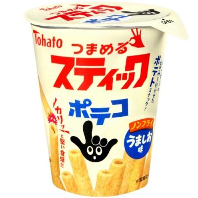 Tohato 手指圈圈條-鹽味[杯裝] (40g)