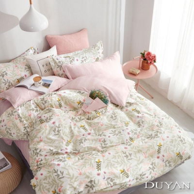 DUYAN竹漾 100%精梳純棉 單人三件式舖棉兩用被床包組-大人的味道 台灣製